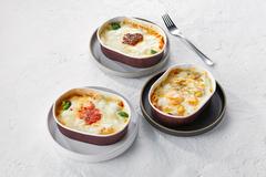 ソースから手作り!レンジで簡単調理/北海道グラタン3種セット(「道産粗挽き牛肉のボロネーズ」「余市産豚肉のパンチェッタトマト」「北のシーフード」各2個)